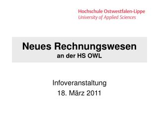 Neues Rechnungswesen an der HS OWL