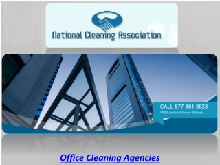 Office Cleaning Agencies