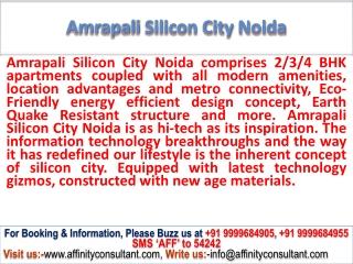 Amrapali Silicon City Noida @ 09999684955 @ sec - 76 : noida