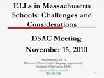 ELLs in Massachusetts Schools: Challenges and Considerations
