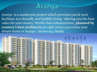 2,3,4BHK Aranya Apartments In Noida,At Reasonable
