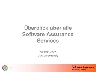 berblick  ber alle Software Assurance Services