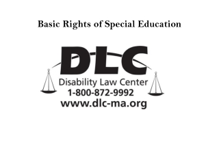 Special Education  Law and Discipline
