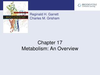 Chapter 17 Metabolism: An Overview