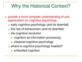 Why the Historical Context