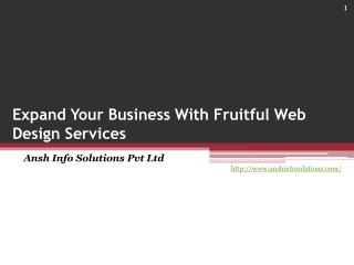 Expand Your Business With Fruitful Web Design Services