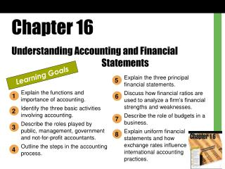 Chapter 16 Understanding Accounting and Financial      Statements