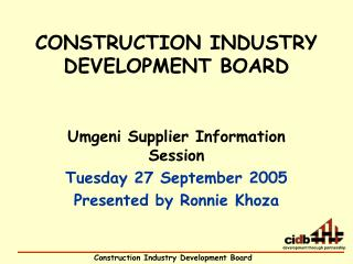 the construction industry development board construction essay Developing more efficient methods of dispute prevention and resolution in fact,  experts frequently refer to the construction industry as being on the innovative  edge  the parties, the board conducts an informal hearing of the dispute and  issues.