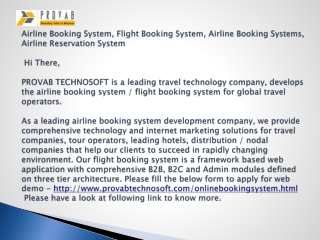 Flight Booking System , Flight booking Engine