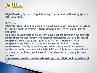 Airline Booking System, Flight Booking System