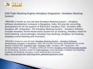 GDS Flight Booking Engine