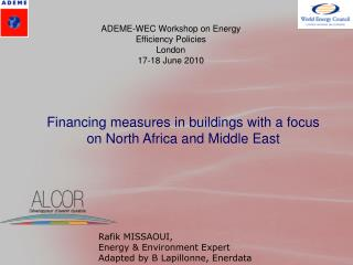 Financing measures in buildings with a focus on North Africa and Middle East