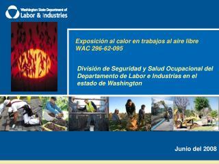 Exposici n al calor en trabajos al aire libre  WAC 296-62-095