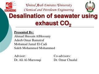 United Arab Emirates University Chemical and Petroleum Engineering