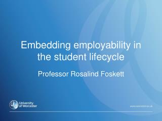 Embedding employability in the student lifecycle