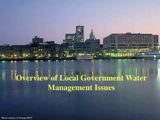 Overview of Local Government Water Management Issues