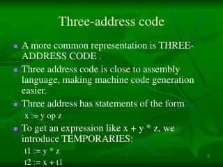 Three-address code