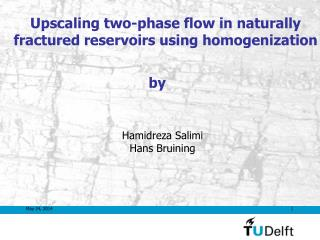 Upscaling two-phase flow in naturally fractured reservoirs using homogenization
