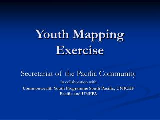 Youth Mapping Exercise
