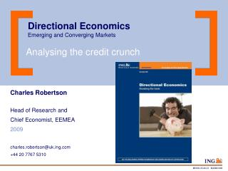 Directional Economics Emerging and Converging Markets
