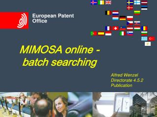 MIMOSA online - batch searching