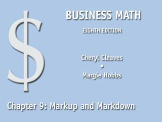 Markup and Markdown