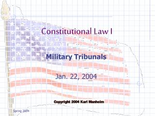 Military Tribunals  Jan. 22, 2004