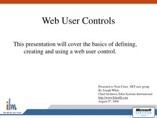 Web User Controls