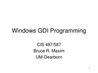 Windows GDI Programming
