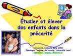 tudier et  lever des enfants dans la pr carit