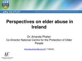 ELDER MISTREATMENT  A Public Health Perspective