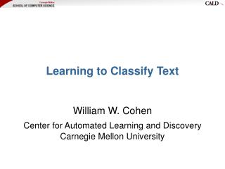 Learning to Classify Text