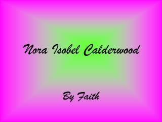Nora Isobel Calderwood