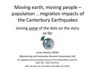 Moving earth, moving people   population .. migration impacts of the Canterbury Earthquakes