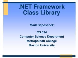 Framework  Class Library