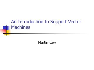 An Introduction to Support Vector Machines