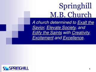 Springhill  M.B. Church