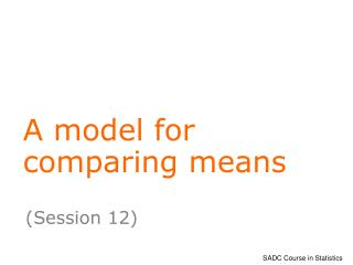A model for comparing means