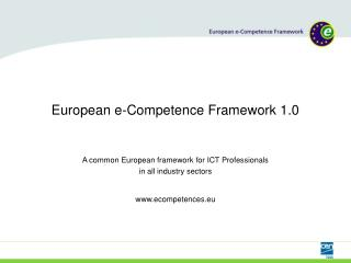 European e-Competence Framework 1.0