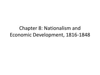 Chapter 8  The Statehood Era