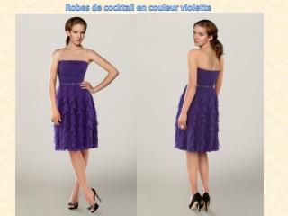 Robes de cocktail en couleur violette