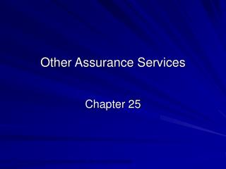 Other Assurance Services