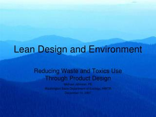 Lean Design and Environment