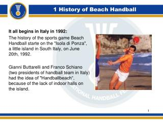 1 History of Beach Handball