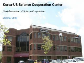 Korea-US Science Cooperation Center