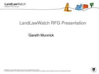 LandLawWatch RFG Presentation