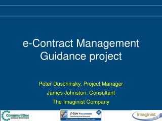 E-Contract Management Guidance project