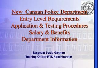 New  Canaan Police Department Entry Level Requirements  Application  Testing Procedures Salary  Benefits Department Info