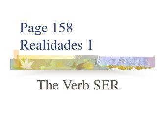 Page 158 Realidades 1