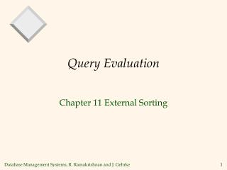 Query Evaluation